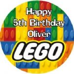 Personalised Edible Lego Cake Topper